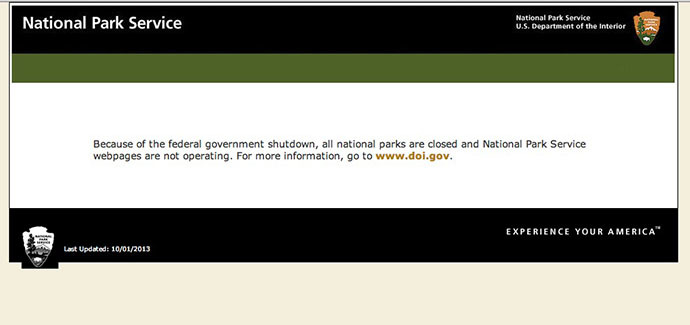 A screenshot from nps.gov