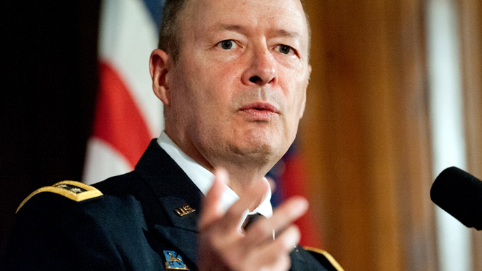 US Army Gen. Keith Alexander, commander of US Cyber Command and director of the National Security Agency (NSA) (AFP Photo / Jim Watson)