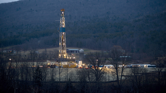 A natural gas well is drilled near Canton, in Bradford County, Pennsylvania (Reuters)