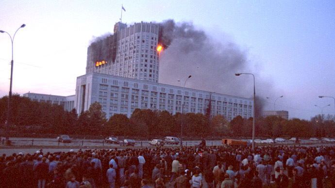 Background to bloodshed – 20 years since Russia's constitutional crisis