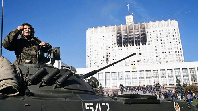 History in REAL TIME: Relive the #1993 Russian Parliament siege