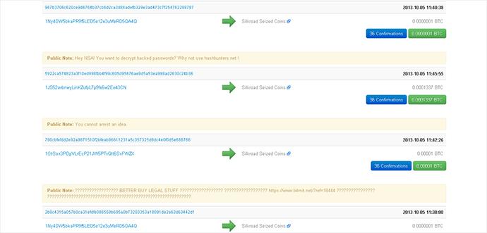 A screenshot from blockchain.info