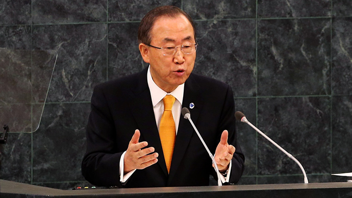 Secretary-General Ban Ki-moon (Spencer Platt / Getty Images / AFP)