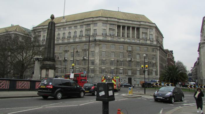 Headquarters of the British Security Service formerly known as MI5