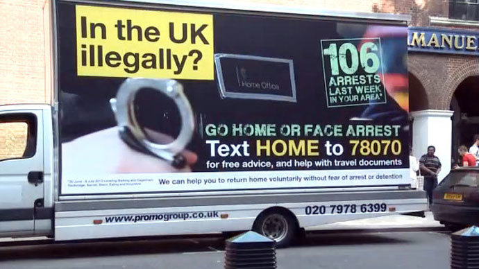 UK watchdog bans govt 'Go home' ads targeting immigrants