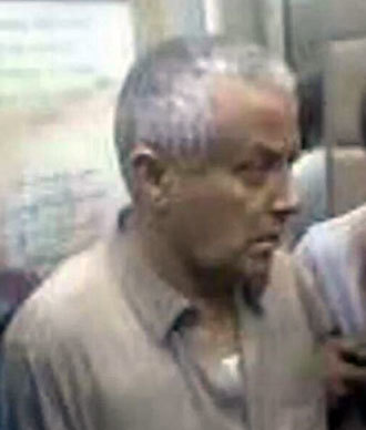 Prime Minister Ali Zeidan immediately after seizure (Image from twitter.com user @binyahya007)