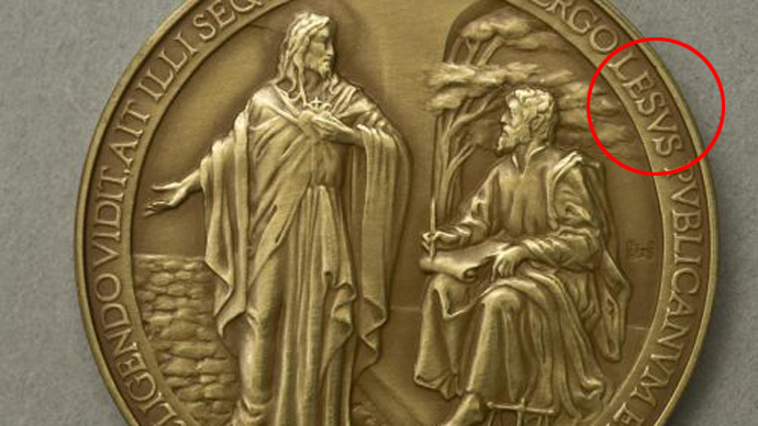 What would Lesus do? Vatican withdraws misspelled Papal medals