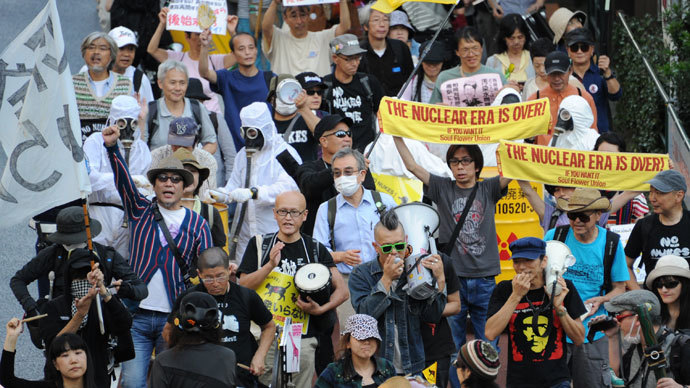 'Don't pollute our sea:' Mass demo in Tokyo to ban nuclear energy (PHOTOS)