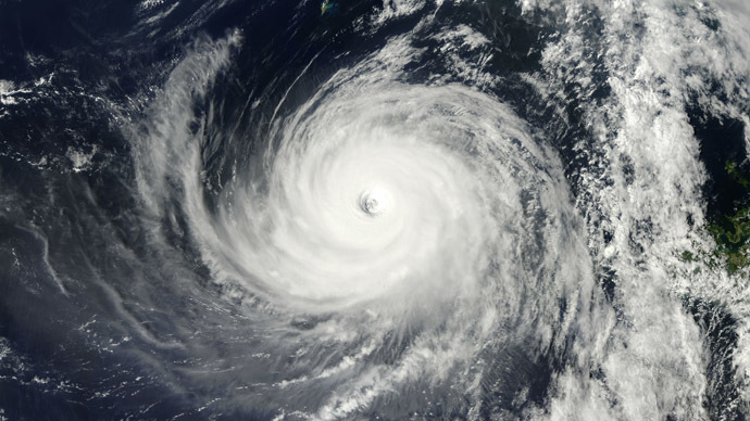 This October 7, 2013 NASA Terra satellite image shows Typhoon Danas off Japan. (AFP/NASA)