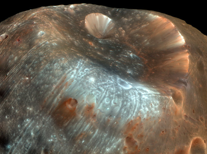 A high resolution image of Phobos taken by NASA's Mars Reconnaissance Orbiter. (NASA/JPL-Caltech/University of Arizona)