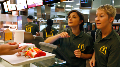 McDonald's company help line to broke worker: 'Go on food stamps'