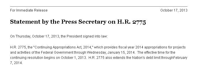 Statement by the White House Press Secretary whitehouse.gov