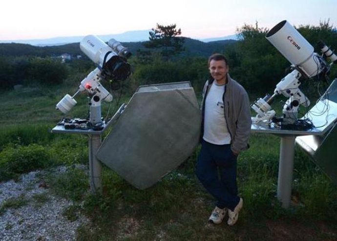 The man behind 2013 TV135 asteroid discovery, Gennady Borisov from the Crimean Astrophysical Observatory.