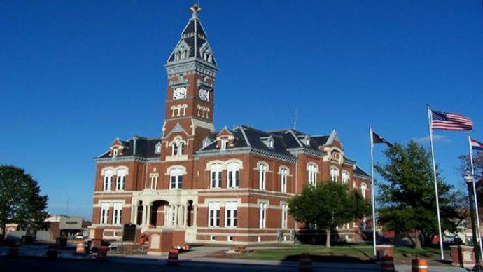 The Nodaway County Courthouse in downtown Maryville, Mo. (Photo from nodaway.countycriminal.com)