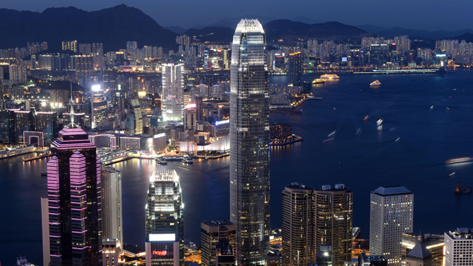 A general view shows Victoria Harbour and residential and commercial buildings including the International Finance Centre Two in Hong Kong (AFP Photo / Dale de la Rey)