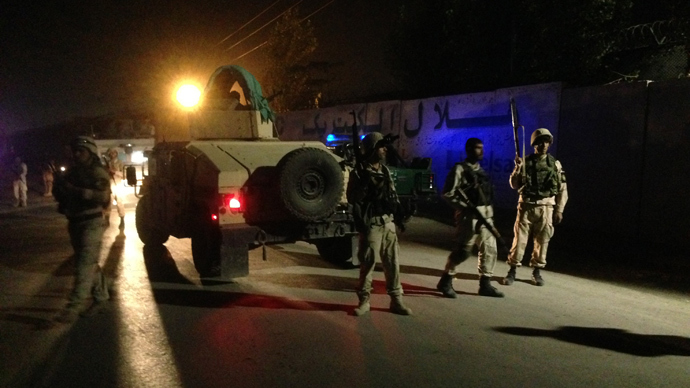 ISAF convoy attacked outside foreign compound in Kabul allegedly by Taliban
