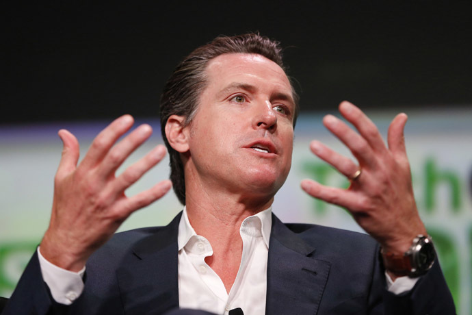 California Lt. Governor Gavin Newsom (Reuters/Stephen Lam)