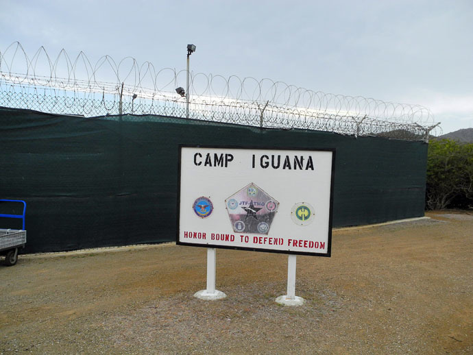 Camp Iguana at the US Naval Base in Guantanamo Bay, Cuba on August 7, 2013. (AFP Photo)