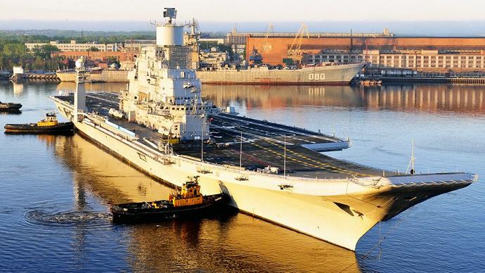 Vikramaditya aircraft carrier (Photo from wikipedia.org)