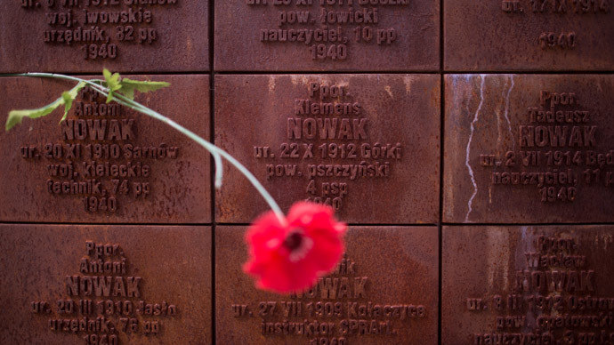 The Katyn Memorial in the Smolensk Region. (RIA Novosti/Iliya Pitalev)