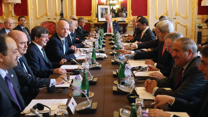 Arab and Western Foreign ministers hold the