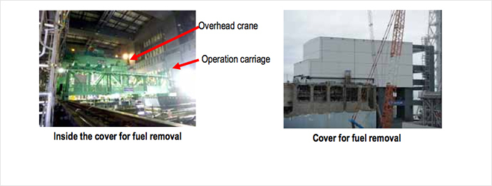 Installation status of fuel removal cover of Unit 4 (Image from tepco.co.jp)