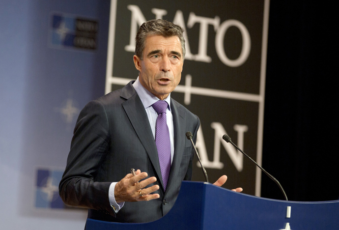 NATO Secretary General Anders Fogh Rasmussen (AFP Photo)