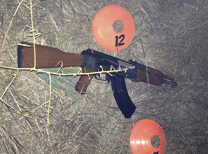 Sonoma County Sheriff's office photo shows a replica of an assault weapon that a teenage boy was carrying before he was shot by Sonoma County Deputies in Santa Rosa, California October 22, 2013. (Reuters)