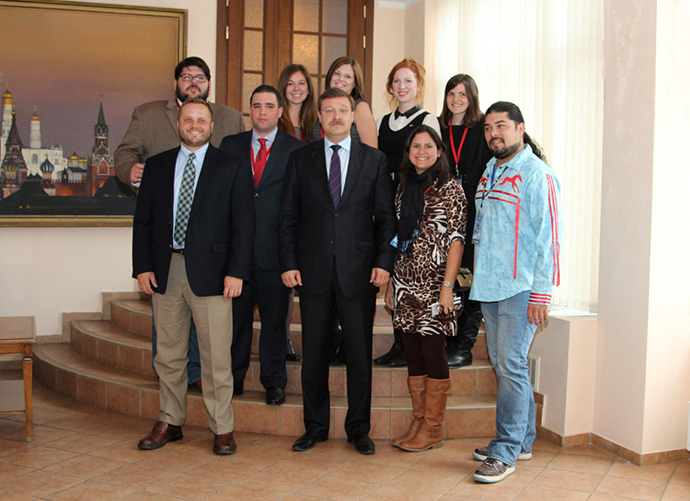 Konstantin Kosachev meets a delegation of young businessmen and members of the political establishment of the United States on October 15, 2013. (Image from http rs.gov.ru)