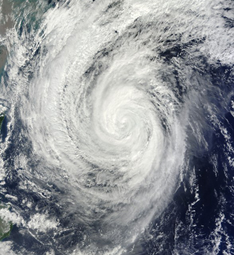 This October 23, 2013, NASA satellite image shows Typhoon Francisco in the Pacific Ocean. (AFP Photo / NASA)