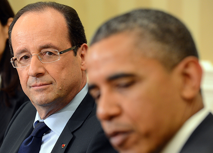 US President Barack Obama and French President Francois Hollande (AFP Photo / Jewel Samad)