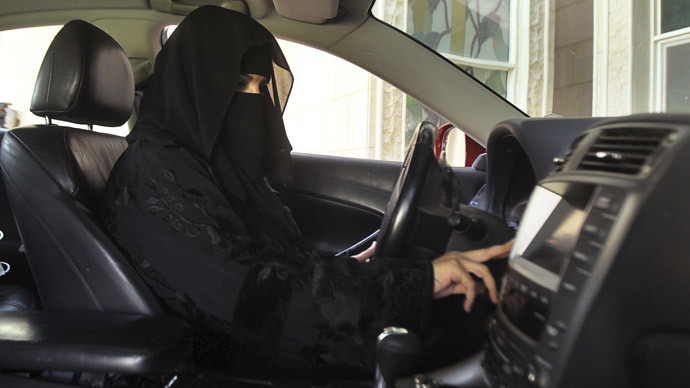 A woman drives a car in Saudi Arabia (Reuters/Faisal Al Nasser)