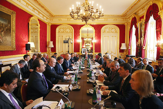 "Arab and Western Foreign ministers hold the ""London 11"" meeting from the Friends of Syria Core Group at Lancaster House in London on October 22, 2013. (AFP Photo / Oli Scarff)"