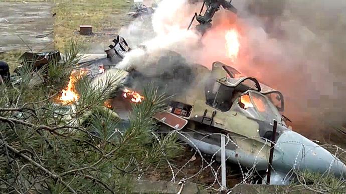 Accidente de un helicóptero Ka-52 en Moscú Helicopter-3.si
