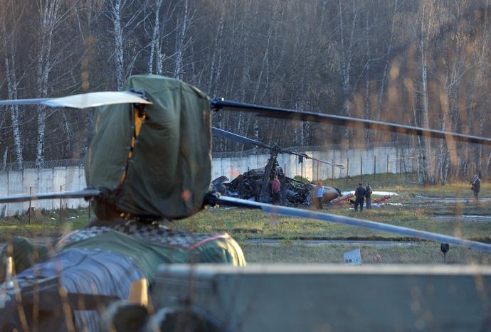 Accidente de un helicóptero Ka-52 en Moscú Helicopter-5