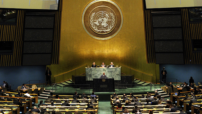 A session of the General Assembly at the United Nations (AFP Photo / Timothy A. Clary)