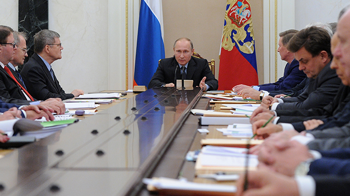 Russian President Vladimir Putin chairing a meeting of the presidential Anti-Corruption Council at the Moscow Kremlin on October 30, 2013 (RIA Novosti / Mikhail Klementiev)