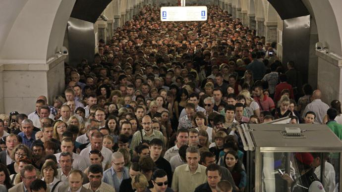 Afbeeldingsresultaat voor metro moscow crowd