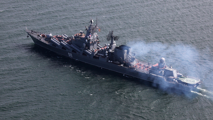 The guided missile cruiser Varyag of the Russian Pacific Fleet (RIA Novosti / Vitaliy Ankov)<br /><br />