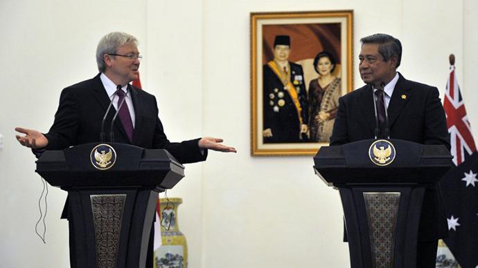 Australian Prime Minister Kevin Rudd (left) and President Susilo Bambang Yudhoyono. (AFP Photo / Bay Ismoyo)