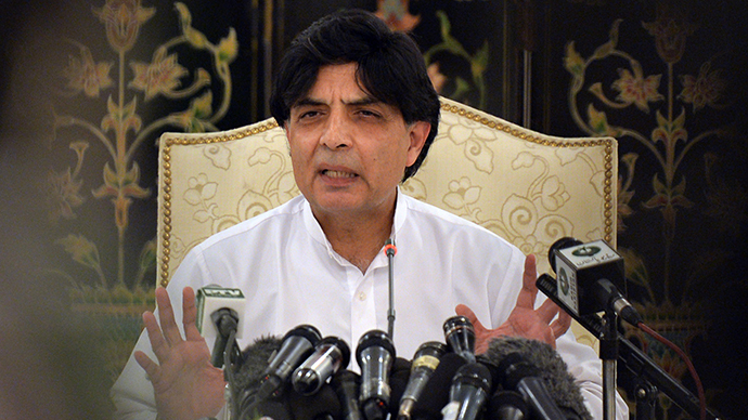 Pakistani Interior Minister Chaudhry Nisar (AFP Photo / Aamir Qureshi)