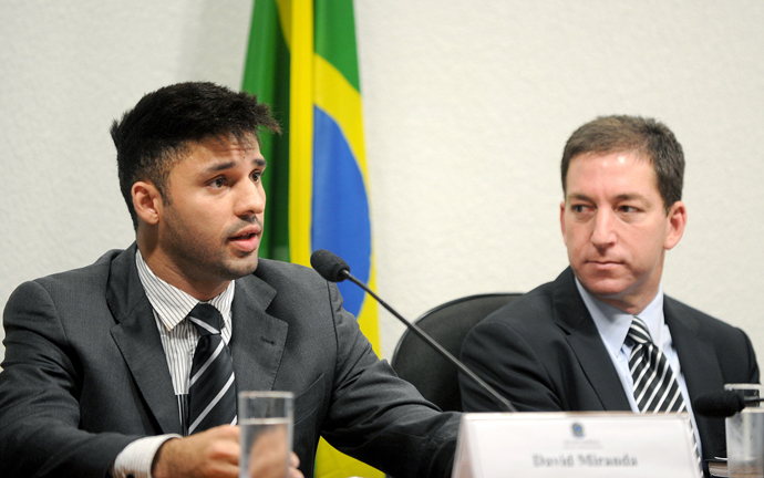 David Miranda (L), partner of the Guardian's Brazil-based reporter Glenn Greenwald (R) (AFP Photo)