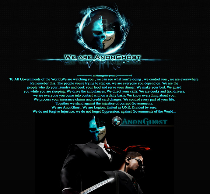 Anonymous activists hacked the website ofthe Italinan Istituto Comprensivo Giovanni XXIII at scuolastatte.gov.it