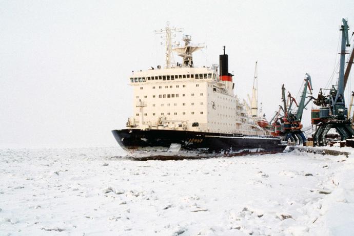 The nuclear icebreaker Taimyr. (RIA Novosti/Igor Mikhalev)