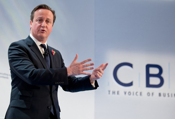 British Prime Minister David Cameron (AFP Photo / Leon Neal)
