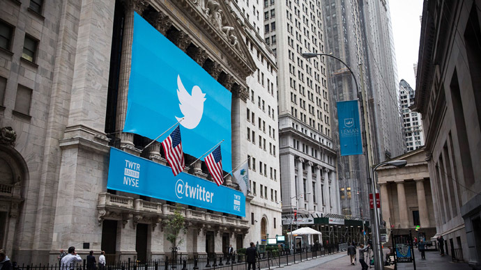 Twitter abuzz: Shares surge 73% after hitting NYC floors