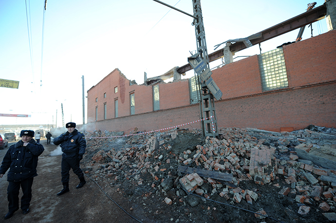 Destruction caused by the blast of the falling space object at the Chelyabinsk zinc plant on February 15, 2013. (Pavel Lisitsyn / RIA Novosti)