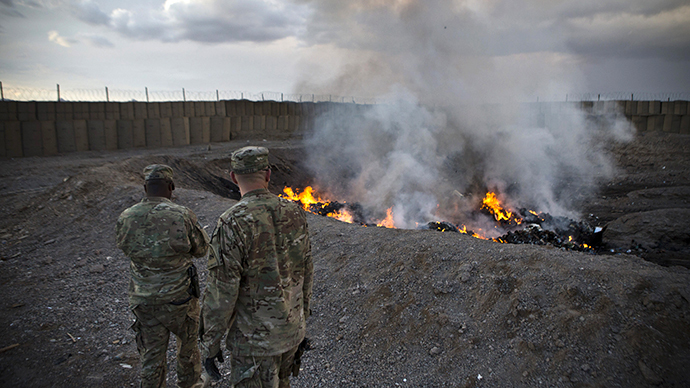 US trashes gear in Afghanistan instead of donating it
