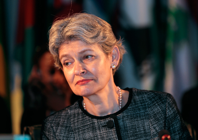 Irina Bokova, the General Director of UNESCO (AFP Photo)