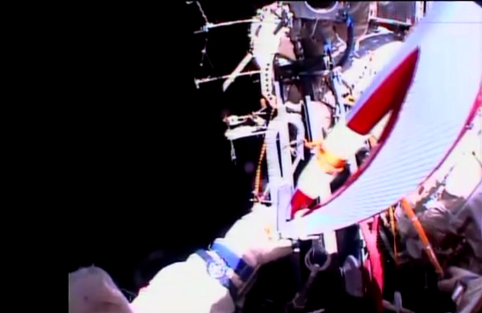 Screenshot from live video (courtesy: Roscosmos)
